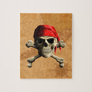 The Jolly Roger Pirate Map Jigsaw Puzzles