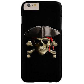 The Jolly Roger Pirate Skull Barely There iPhone 6 Plus Case