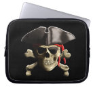 The Jolly Roger Pirate Skull Computer Sleeve