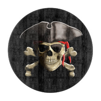 The Jolly Roger Pirate Skull Cutting Board