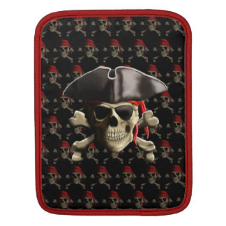 The Jolly Roger Pirate Skull Sleeve For iPads