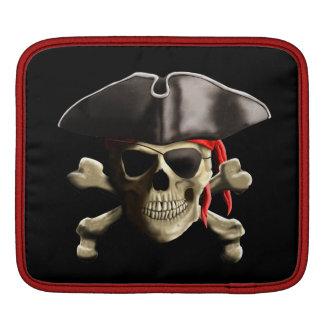 The Jolly Roger Pirate Skull iPad Sleeve