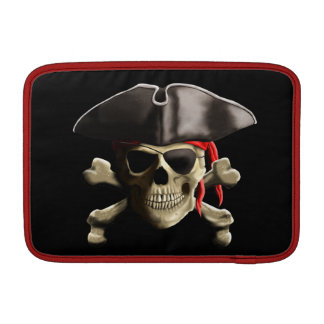 The Jolly Roger Pirate Skull Sleeve For MacBook Air