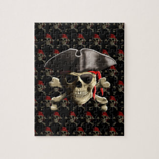 The Jolly Roger Pirate Skull Jigsaw Puzzle