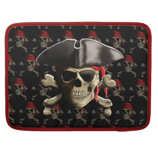 The Jolly Roger Pirate Skull MacBook Pro Sleeve