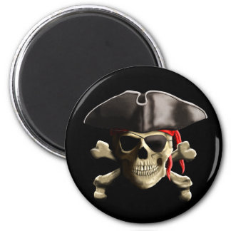 The Jolly Roger Pirate Skull Magnet
