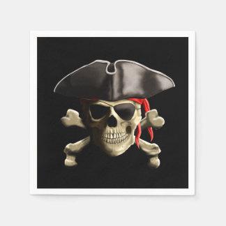 The Jolly Roger Pirate Skull Paper Napkin