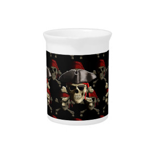 The Jolly Roger Pirate Skull Pitcher