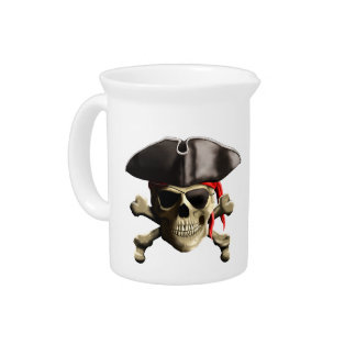 The Jolly Roger Pirate Skull Pitchers