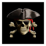 The Jolly Roger Pirate Skull Poster