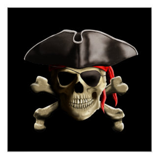 The Jolly Roger Pirate Skull Poster