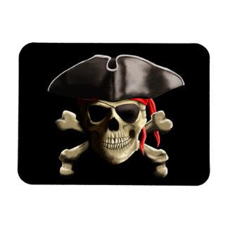 The Jolly Roger Pirate Skull Rectangular Photo Magnet