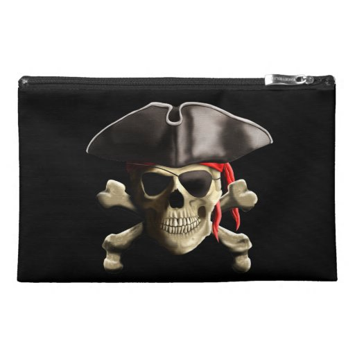 The Jolly Roger Pirate Skull Travel Accessory Bags
