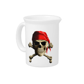The Jolly Roger Beverage Pitcher