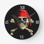 The Jolly Roger Round Clock