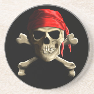 The Jolly Roger Sandstone Coaster