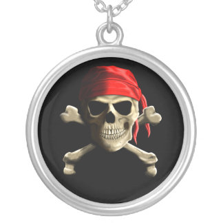 The Jolly Roger Silver Plated Necklace