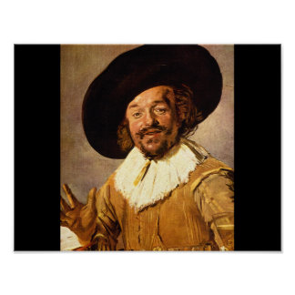 The Jolly Toper', Franz Hals_Dutch Masters Poster