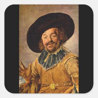The Jolly Toper', Franz Hals_Dutch Masters Square Sticker