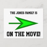 [ Thumbnail: The Jones Family Is On The Move! Postcard ]