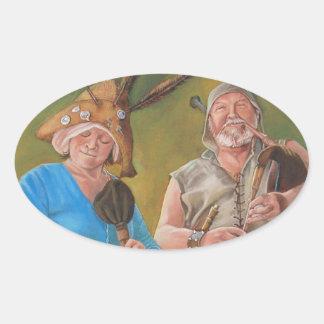 The Jongleurs Oval Sticker