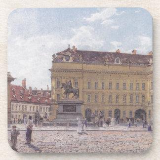 The Josef square in Vienna by Rudolf von Alt Drink Coaster