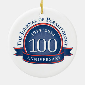 The Journal of Parasitology 100th Anniversary Double-Sided Ceramic Round Christmas Ornament