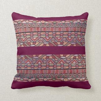 The Journey Burgundy Pillow/Cushion Throw Pillow