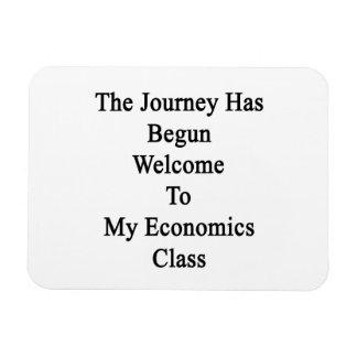 The Journey Has Begun Welcome To My Economics Clas Rectangular Photo Magnet