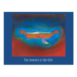 The Journey is the gift postcard