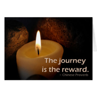 The journey is the reward card