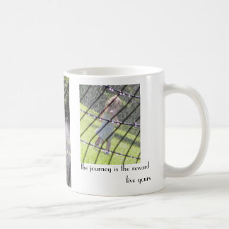 the journey is the reward - live yours coffee mug