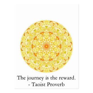 The journey is the reward. - Taoist Proverb Postcard
