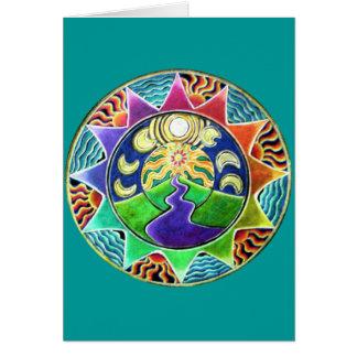 The Journey Mandala Greeting Card