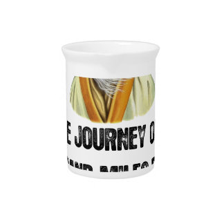 the journey of a thousand miles begins with a sing beverage pitcher