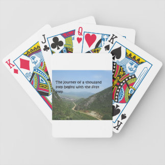 The journey of a thousand step bicycle playing cards