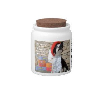 The Journey of Life... Lola B. Boston treat jar Candy Jars