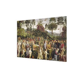 The Journey of Moses, c.1481-83 Canvas Print