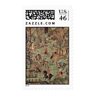 The Journey Of The Emperor Ming Huang Shu After By Postage Stamps