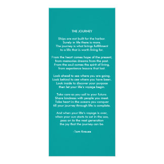 THE JOURNEY. RACK CARD