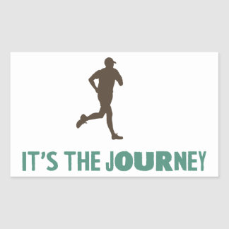 The Journey Rectangular Sticker