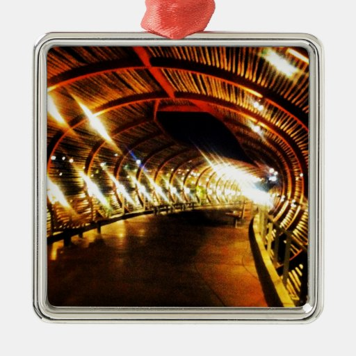 The Journey Square Metal Christmas Ornament