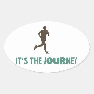 The Journey Oval Sticker