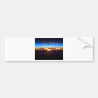 The Journey Sunset Bumper Sticker