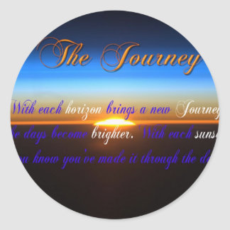 The Journey Sunset Classic Round Sticker