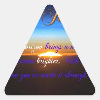 The Journey Sunset Triangle Sticker