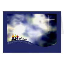 The Journey to Bethlehem Goat Christmas Card