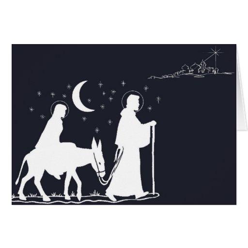 The Journey to Bethlehem Greeting Card