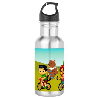 The Journey to Sleepy Town Stainless Steel Water Bottle