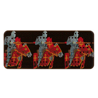 THE JOUSTER - KNIGHT WOOD CRIBBAGE BOARD